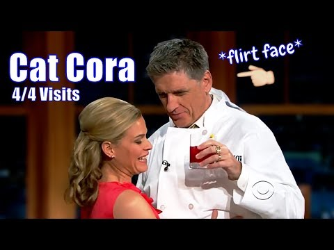Cat Cora & Craig Ferguson Cooking - Things Heat Up Fast!