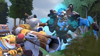 TECHIES TROLLS SPACE COW! - DotA 2 Funny Moments