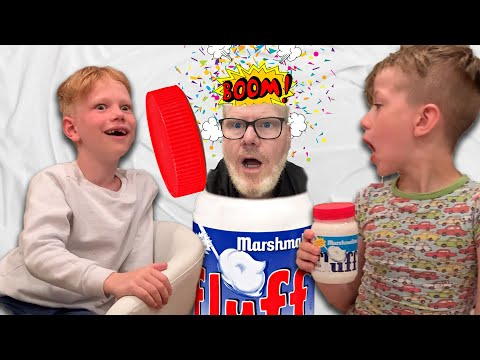 My Kids try Marshmallow Fluff for the first time! *Hilarious*