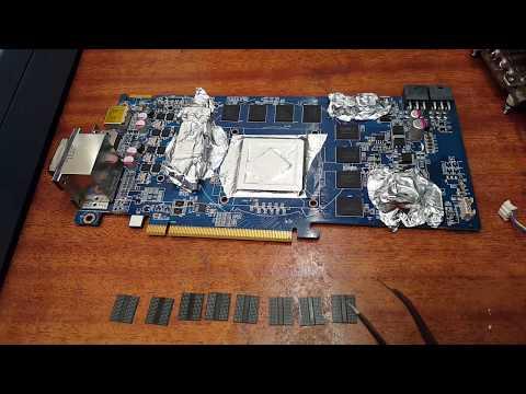 Увеличение объема памяти на видеокарте. Часть 2 - Монтаж чипов памяти.