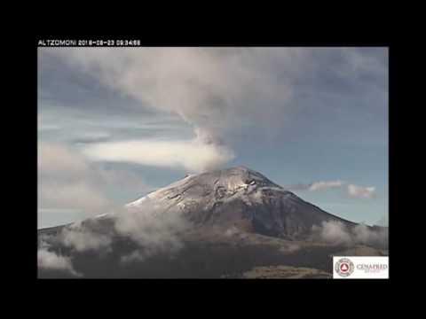 Exhalaci�n del volc�n Popocat�petl 22 y 23 de junio de 2016