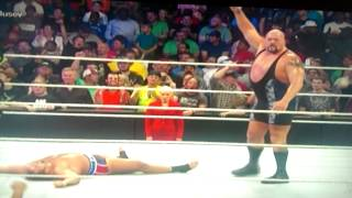 The big show knocked out rusev on smackdown