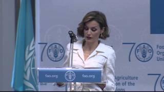 Discurso de la Reina Letizia de España en la FAO