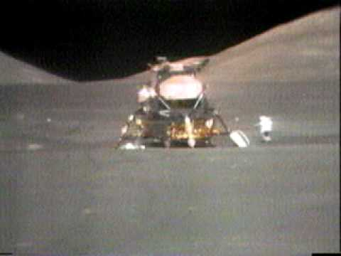 Apollo 17's Harrison Schmitt begging to throw a hammer on the moon