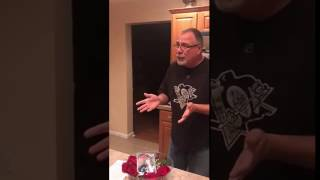 Dad Surprised with Rose Bowl Tickets