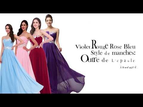 robe demoiselle d'honneur longue - achat en ligne de robe demoiselle d'honneur 2018
