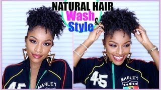 """In today's video, I show you how to get my """"sleek"""" high puff on natural hair, starting with my wash day and deep conditioning routine. This is my better version, since I usually just throw it up into a band and call it a lazy day. For my thin or awkward-stage naturals, this one's for you!THUMBS UP, SHARE, & SUBSCRIBE!My jacket is sold out but I get my Marley stuff here http://bit.ly/2pPYi9J (Currently buy one get one 50%)WATCH MY LAST VIDEO https://youtu.be/hhOFFGRMF6A// PRODUCTS YOU NEED (in order) //Deep conditioner/hair maskOlive oilShampooConditioner Leave-inLight oilCream styler➰HOW TO CROCHET BRAIDS FOR BEGINNERS STEP-BY-STEPhttps://youtu.be/G5jDjrGGMtw➰MY CROCHET BRAIDS ROUTINE + HOW I MAINTAIN THEMhttps://youtu.be/VoBzRsy3-CcMY MAILBOX!Jodi LaMont733 Delaware Rd #182Buffalo, NY 14223 USA⇣KEEP UP WITH MEINSTAGRAM: @thebrilliantbeautySNAPCHAT: brilliantb3autyTWITTER: @BrilliantJodianFACEBOOK: The Brilliant BeautyPINTEREST: The Brilliant Beauty--EQUIPMENT I FILM WITH--Canon 80D http://amzn.to/2a3vnHQRing Light http://amzn.to/2arNbfAFor business inquiries only, contact ⇢ thebrilliantbeautybiz@gmail.comVideo is not sponsored.😋Welcome to my channel! I'm Jodi, and I share my creative ideas through TheBrilliantBeauty by uploading hair tutorials, makeup looks, and fashion videos. My hope is to inspire you to try something new and be confident in the process."""