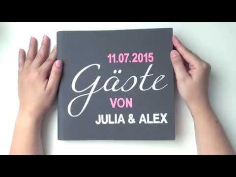 individualisiertes Gästebuch zur Hochzeit