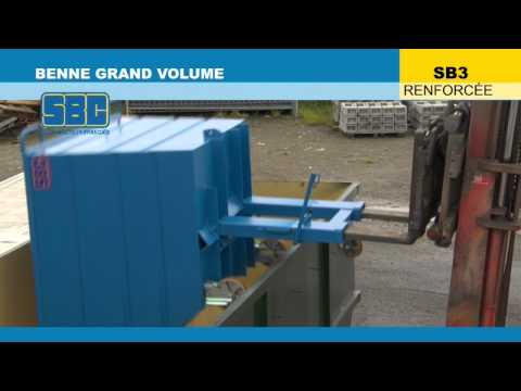 Video Youtube Benne basculante renforcée grand volume - Capacité 1350 à 4000 litres - Charge inférieure à 3000 kg