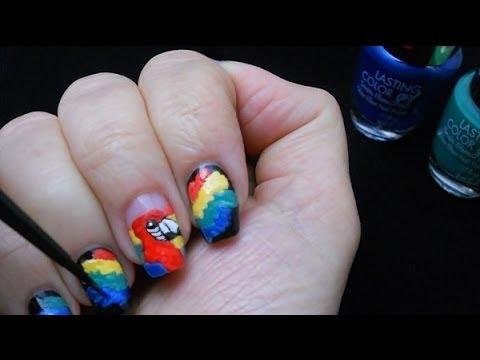 nail art parrot