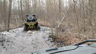 2. RZR S 900 mudding and trail riding