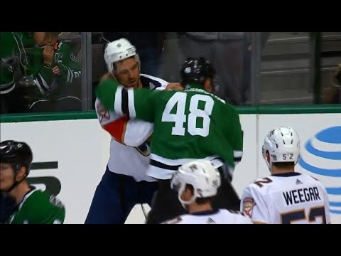 Video: Stars vs. Panthers erupts with six fights, 138 combined penalty minutes