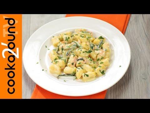 gnocchi zucchine e salmone - ricetta