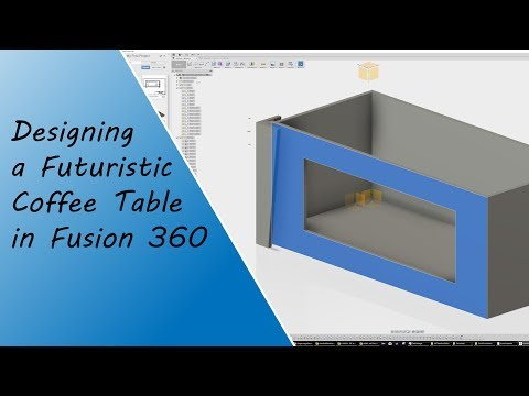 Designing a Futuristic Coffee Table for All That's Good Production Co. in #Fusion360