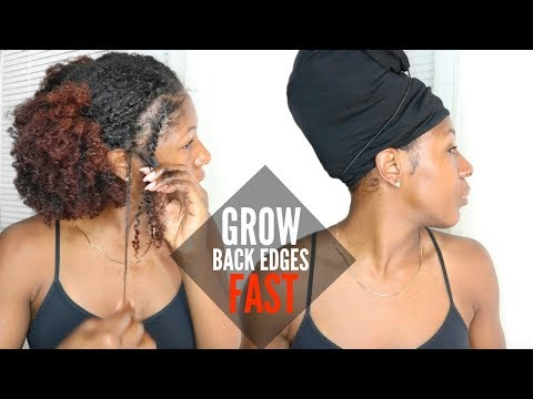 GROWING BACK EDGES & FAST HAIR GROWTH!!! | Nighttime Natural Hair Routine