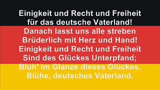 "Germans no longer sing the first two stanzas, the official anthem is now ""Einigkeit und Recht und Freiheit für das deutsche ..."
