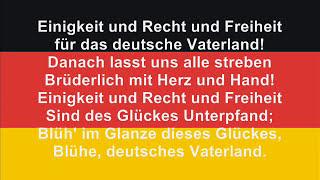 """Germans no longer sing the first two stanzas, the official anthem is now """"Einigkeit und Recht und Freiheit für das deutsche..."""