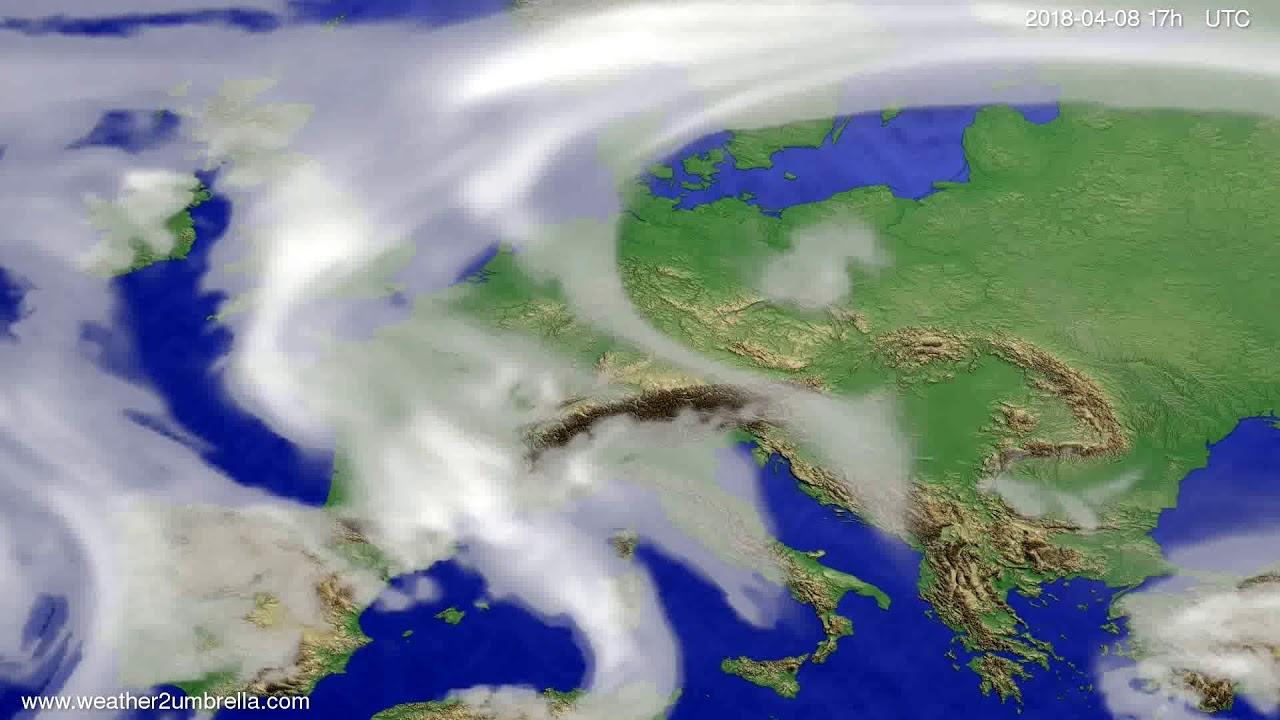 Cloud forecast Europe 2018-04-06