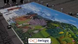 Уникален уличен художник от Мюнхен!!! Вижте!!!