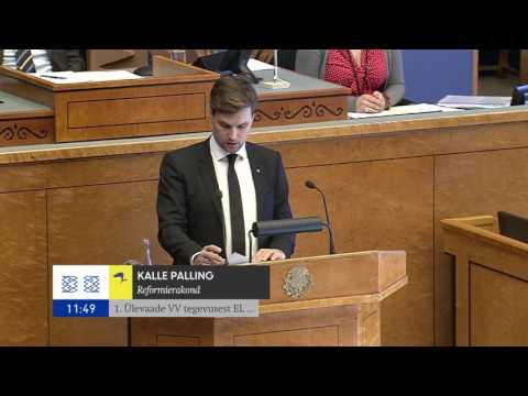 Kalle Pallingu ettekanne Euroopa Liidu poliitika arutelul, 18.10.2016