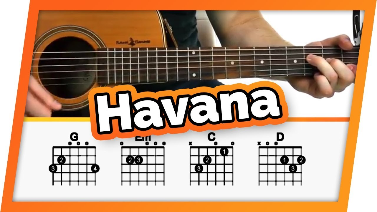 Havana – Camila Cabello – Guitar Tutorial (Lesson) For Beginners // Easy Chords