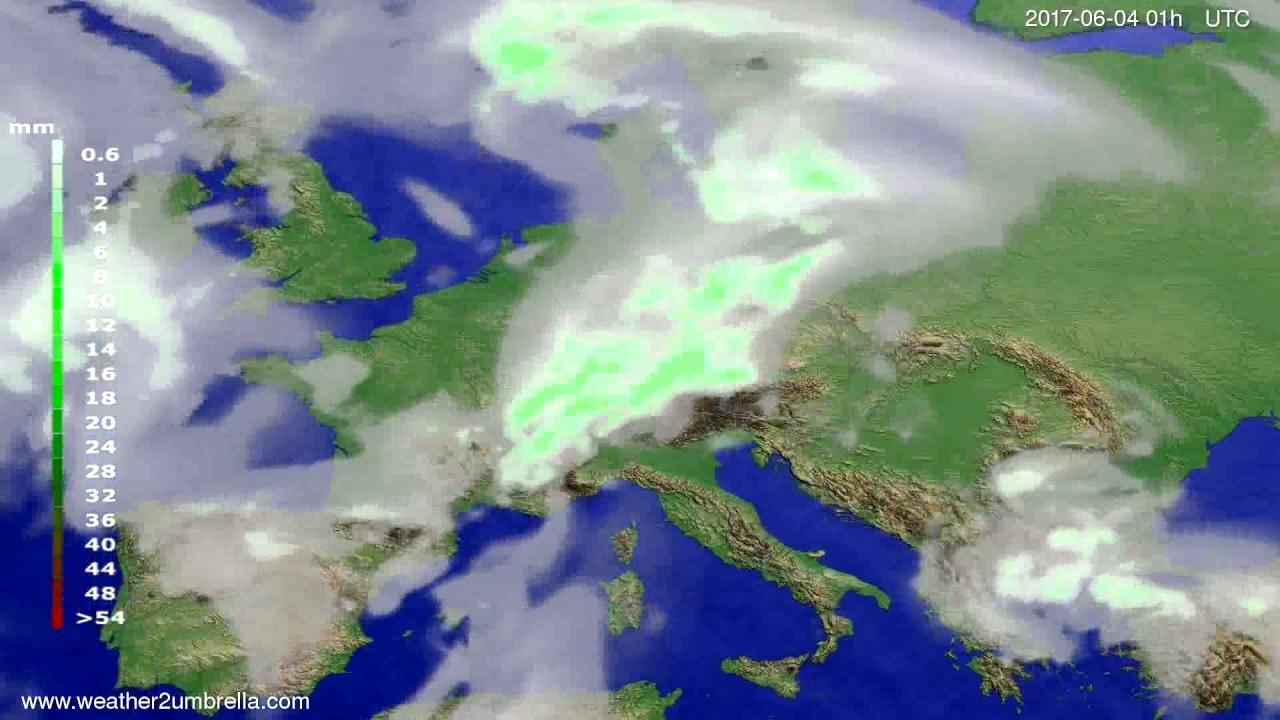 Precipitation forecast Europe 2017-06-01