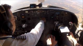 citation IFR Flight In A Citation V (single Pilot). Cockpit Camera