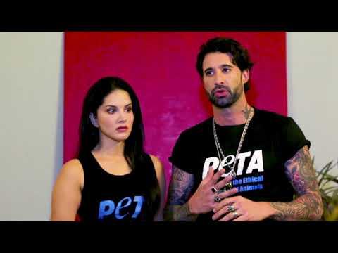 Video Sunny Leone And Daniel Weber Promote Animal-Free Fashion download in MP3, 3GP, MP4, WEBM, AVI, FLV January 2017