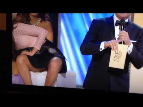 style - Miss America 2014. Miss Nebraska flashes underwear. Spreads legs for camera.