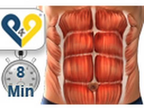Treinamento abdominais em 8 minutos