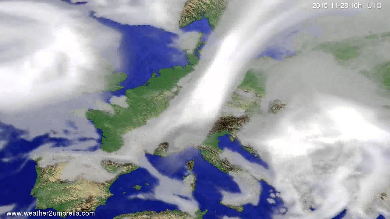 Cloud forecast Europe 2015-11-26