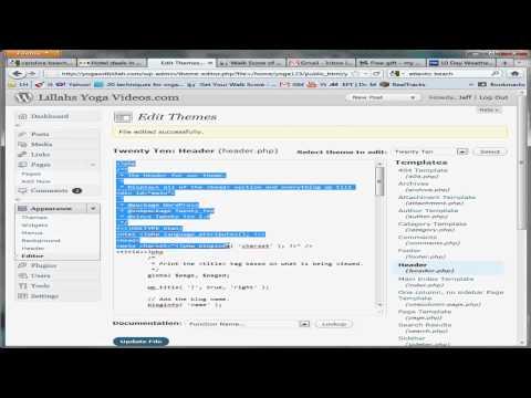 comment modifier home wordpress