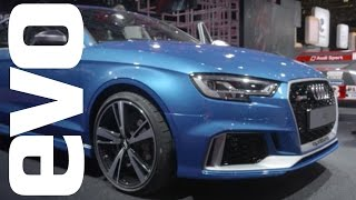 Audi RS3 saloon preview | evo MOTOR SHOWS by EVO Magazine