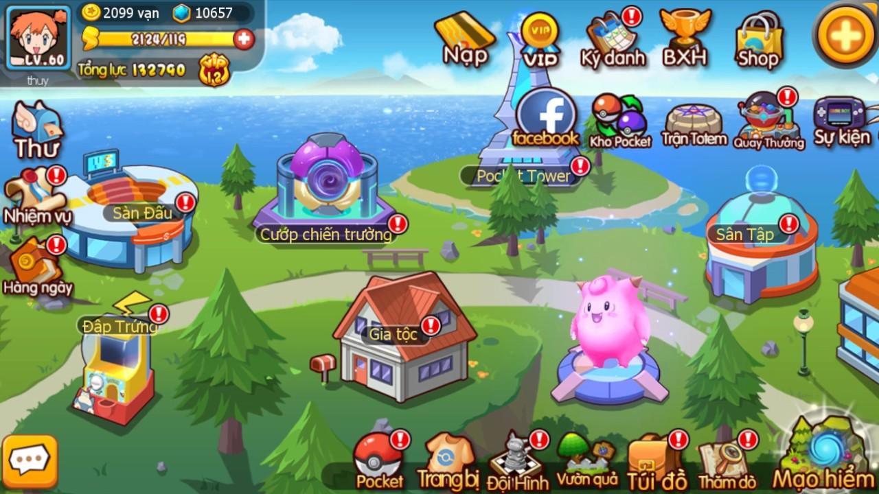 Cận cảnh tiến hóa Squirtle trong game mobile Vua Pocket 3D
