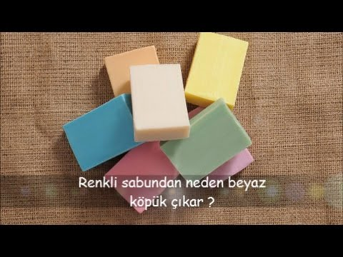 Renkli Sabundan Neden Beyaz Köpük Çıkar ?