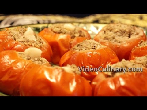 Steamed Meat Stuffed Tomatoes Recipe - Video Culinary