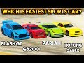 GTA 5 ONLINE : FLASH GT VS PARIAH VS GB200 VS HOTRING SABRE (WHICH IS FASTEST SPORTS CAR ?)