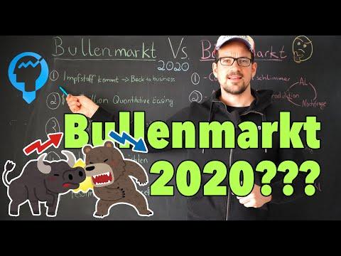 War das der Boden an der Börse? Bullenmarkt Vs. Bärenmarkt 2020