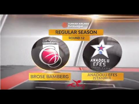 EuroLeague Highlights RS Round 12: Brose Bamberg 91-83 Anadolu Efes Istanbul