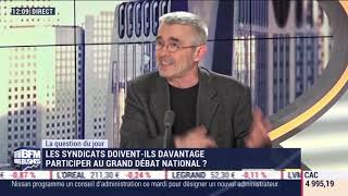 Yves Veyrier sur BFMbusiness février 2019
