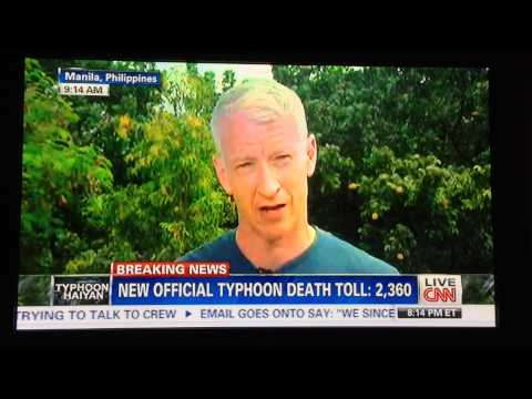 cooper - Anderson Cooper reporting about the situation in Tacloban Philippines becomes a political issue. Urges Korina Sanchez to visit the area if she hasn't yet. Th...