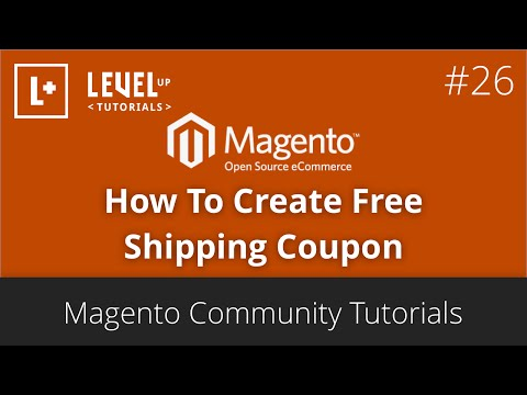 MagentoTutorials 47 ( Community ) – How To Create Free Shipping Coupon
