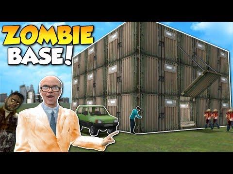 HOW TO SURVIVE ZOMBIE APOCALYPSE!? - Garry's Mod Gameplay - Gmod Zombie Base Building Roleplay (видео)