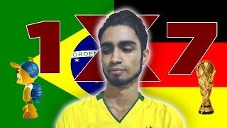 A seleção brasileira perdeu de 7x1 para a seleção alemã no dia 08/07/2014 terça-feira. Muito brasileiro está se deixando afetar demasiadamente e outros não i...