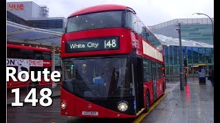 ►► Remember to select 720p ◄◄ [HD] London Bus - Route 148 Ride - Double Decker Red Bus(HD Quality)
