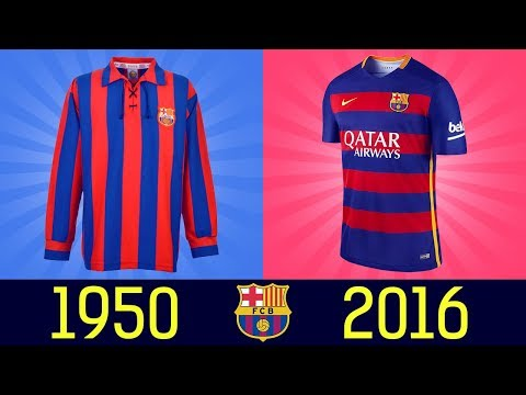 All FC Barcelona Football Kits In History  ||1920 - 2016||