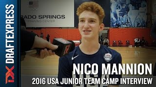Nico Mannion Interview at USA Basketball Junior National Team Camp