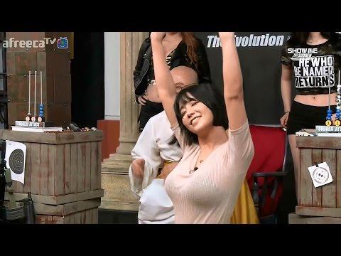 韓國電競大胸女神突然脫下外套 表演性感抖奶舞