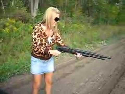 Hottie Shooting a Gun For The 1st Time!!!