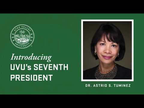UVU: Announcement Of UVU's Seventh President - Astrid S. Tuminez